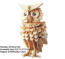 New Wooden Assembly Model 3D Puzzles DIY Toy Geduldspiele Animals Owl