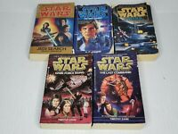 Vtg Lot of 5 Star Wars Paperback Books - Mixed Lot of Expanded Universe Novels!