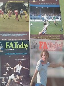 THE FA TODAY - 4 ISSUES 1979 - 1980 - REDUCED