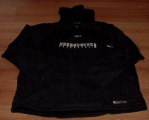 Milwaukee Bucks Hoodie Medium Hooded Sweatshirt Black Embroidered Logos NBA New