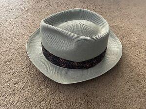 Vintage  Stetson Fedora Straw Hat Mens Sz 56/7