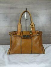 Fossil Reissue Brown Leather Satchel Shoulder Bag Tote Handbag 00