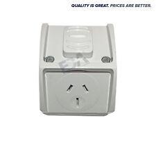 15A Mini Weatherproof Waterproof Single GPO Power Point  15 Amp Socket Outlet WP
