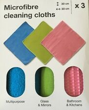 MICROFIBRE CLEANING CLOTHS BATHROOM KITCHEN GLASS MIRROR MULTIPURPOSE LINT FREE