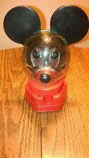 1968 Hasbro Mickey Mouse Piggy Bank Penny Gum Ball Dispenser Vending Machine