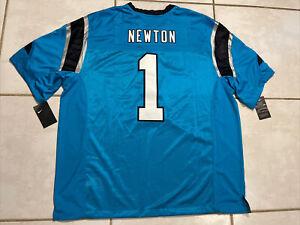 NWT NIKE Carolina Panthers Cam Newton SEWN NFL Jersey Men's 3XL MSRP $150