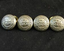 SET OF 4 1910-1935 KING GEORGE V BERMUDA POLICE WHITE METAL BUTTONS 17mm CUFF
