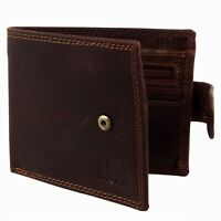 Mens Cognac Oiled Hunter Leather Bi Fold RFID Wallet Rowallan of Scotland