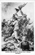 POSTCARD    MILITARY  Gaining  the  Legion of  Honour for a French  Regiment