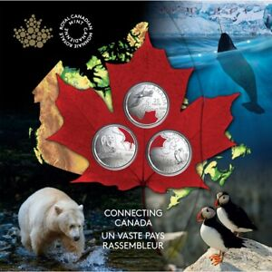 Connecting Canada - 2020 Canada 25 cents 3 coin set