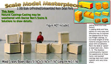 PLYWOOD CRATES/BOXES-LARGE (8pcs) N/1:160-Scale Craftsman California Freight