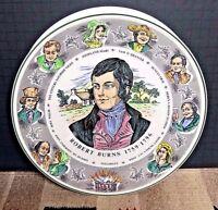 Vintage Royal Doulton T.C. 1040 Character Plate Robert Burns 10 1/2' EXCELLENT!