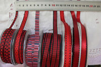 RED & BLACK Polyester 5-10mm Wide - 2, 3 & 5 Metres Length-7 Design Style Choice