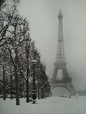 EIFFEL TOWER PARIS A FOGGY WINTER DAY LIFE MAGAZINE 1948 PHOTO 8X10 SMALL POSTER