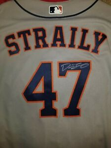DAN STRAILY AUTOGRAPHED GAME USED SIGNED JERSEY MLB AUTHENTICATED HOUSTON ASTROS