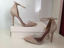 REISS Gaia Suede & Vinyl Shoes - Beige (UK 6) RRP- £150