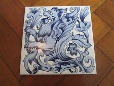 Transferencia de Dragón Azul y Blanco Azulejo Decorativo