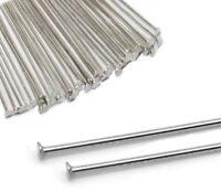 250 Kettelstifte Nadel 50mm Nietstifte Versilbert Kopfstifte Silber M316