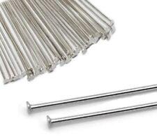 250 Kettelstifte Nadel 50mm Nietstifte Versilbert Kopfstifte Silber BEST M316