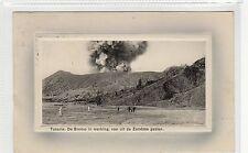 TOSARIE, DE BROMO IN WERKING: Netherlands East Indies postcard (C27561)