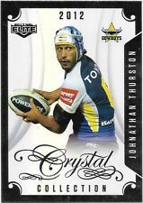 2017 NRL Elite Crystal Collection (CC 26) Jonathan THURSTON Cowboys 2012