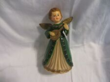 "Vintage Ara Plastics Rotating Musical Angel ""Xms 271/11"" 7"" Tall Hand Decorated"