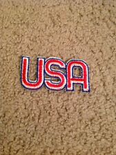 "USA Vintage Red White N Blue 4"" x 2"" sew iron on patch Biker Vest U.S.A.Harley"