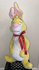 """Winnie The Pooh Yellow Plush Giant Rabbit Disney Mattel Arcotoys 32"""" Vintage"""