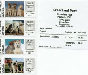 Greenland 2020 - Sled dogs - Greenland printed in the amount field