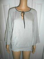 Pretty LC Lauren Conrad size XL gray tie neck sweater ladies women NWT