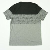 American Rag Mens Tee Crewneck Colorblocked Pocket T Shirt Black Gray Grey
