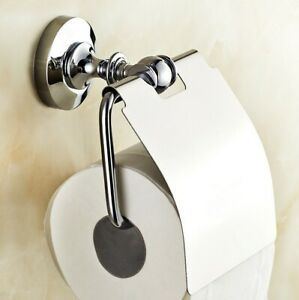 Polished Chrome Tissue Toilet Paper Roll Holder Wall Mounted Toilet Paper Holder