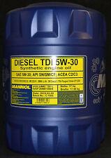 20 L MANNOL DIESEL TDI 5w-30 d'huile VW BMW ll-04 Opel Dexos Mercedes 229.51