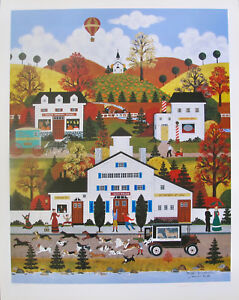 Jane Wooster Scott DOGGIE DELIVERANCE Hand Signed Limited Edition Lithograph
