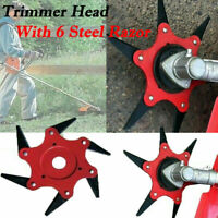 Trimmer Head 6 Steel Blades Razors 65Mn Lawn Mower Grass Weed Cutter Garden Tool