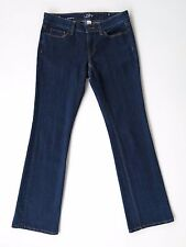 Ann Taylor Loft Curvy Boot Cut Mid Rise Dark Blue Stretch Denim Jeans 2 X 31""