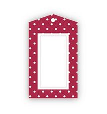 Red Polka Dot Party Bag Gift Tags - Pack of 12