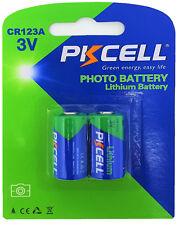 2 x cr123a Batterie au LITHIUM (1 blistercards a 2 batteries) Produits De Marque Pkcell