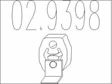 BUTéE éLASTIQUE (SILENCIEUX) POUR SEAT IBIZA III 1.9 TDI,1.4 TDI,1.4 16V