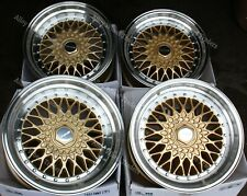 """16"""" Gold RS Alloy Wheels Fit Audi 90 100 80 Coupe Cabriolet Saab 900 9000 4x108"""
