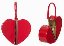 NEW Banned Red Heart Shaped 50s Rockabilly Varnished Handbag Split Vintage Purse