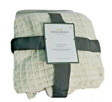 Threshold Microplush Bed Blanket, Sour Cream, Standard 66 x 90 New