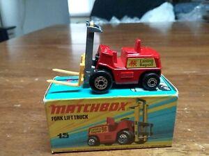 Matchbox Superfast #15 Fork Lift Truck In Box