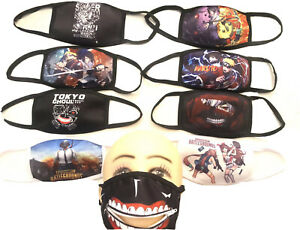 Anime Gaming Face Mask Cover Naruto Pubg Tokyo Ghoul Zipper Ship From CA USA