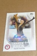 2018 Karen Chen Topps Olympic Figure Skater USA Autograph Card Signed AU 04/60