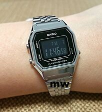 LATEST CASIO LA-680WA-1B LA680WA VINTAGE DIGITAL Stopwatch WOMEN'S WATCH NEW