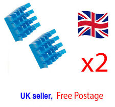 2x Alluminium VGA PC Blue Heat sink For Xbox360 PS DDR RAM Memory Cooling
