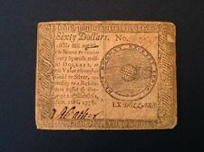-1778  Continental Currency $60 Spanish Milled Dollars -  September 26, 1778