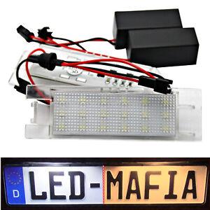 2x Fiat 500L Tipo 356 Marea Punto - LED License Plate Light Module - 6000K