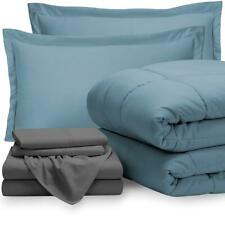 Bare Home 7-Piece Bed-In-A-Bag - California King (Comforter Set: Coronet Blue, S